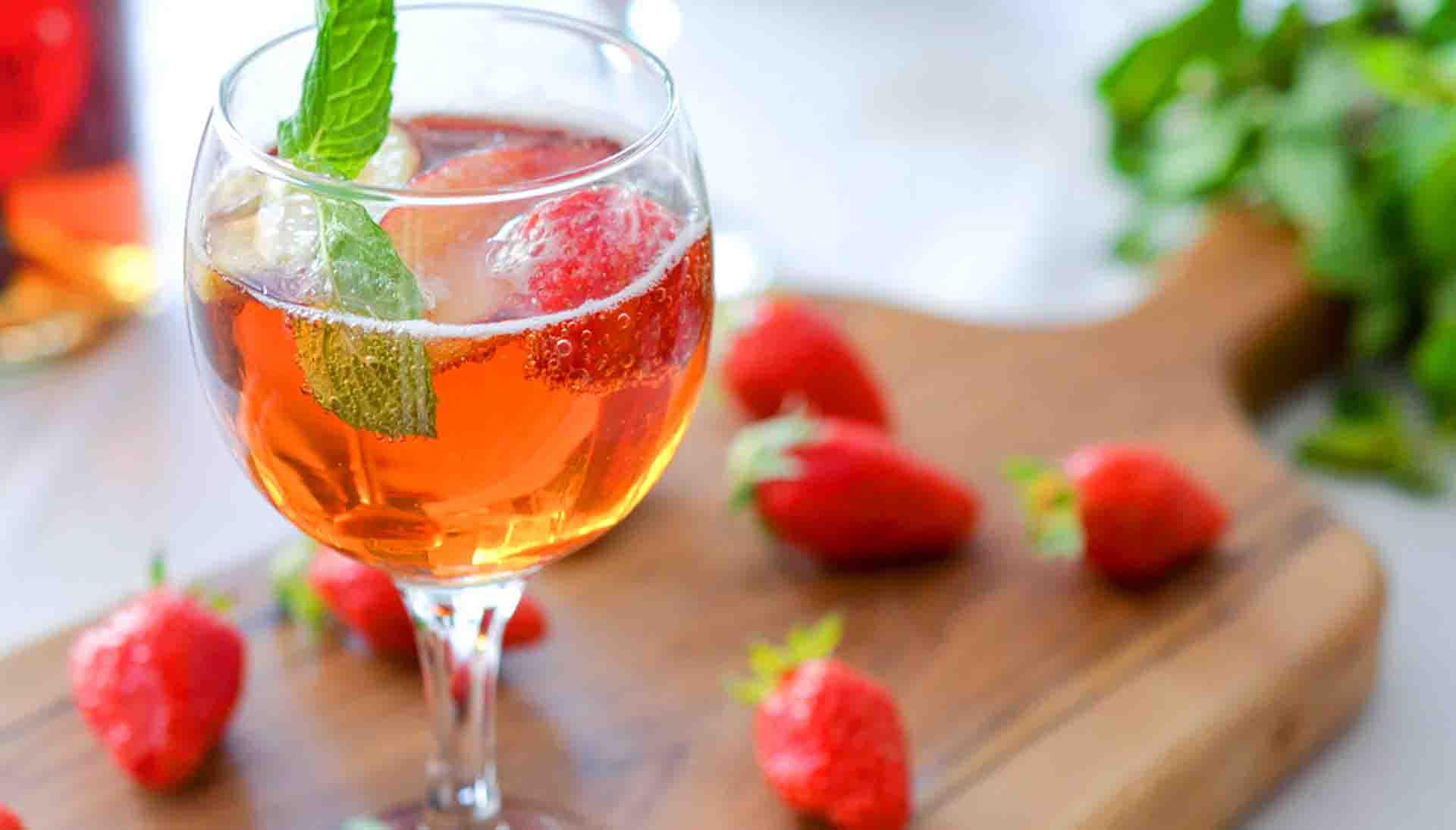 Sangria aux fraises